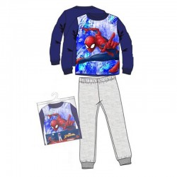 Pijamale groase Spiderman, albastru