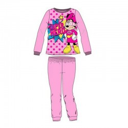 Pijamale groase Minnie Mouse, roz deschis
