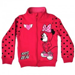 Bluza de trening Minnie Mouse, roz inchis