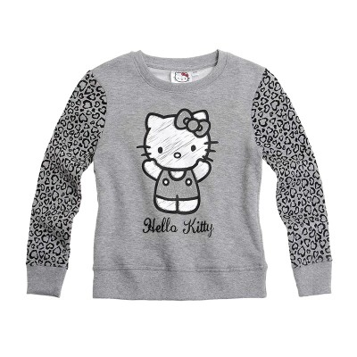 Bluza groasa fete Hello Kitty, gri