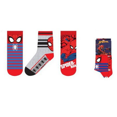 Set sosete Spiderman, rosu-gri