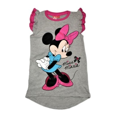 Tricou/top fete Minnie, gri